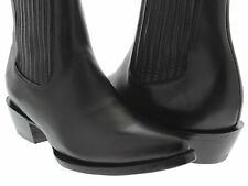 mens black leather ankle western dress boots pointed toe classic rodeo formal