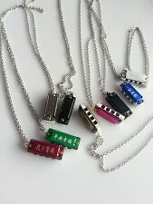 AU 1PIECE Kid Girl Boy mini Harmonica Necklace Pendant 4 holes Party Favor Gift