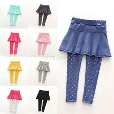 1-7 Years Baby Girls Soft Leggings Spring/Fall Toddlers Trousers Sweet Pantskirt
