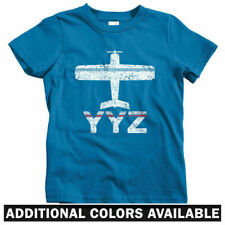 Fly Toronto YYZ Airport Kids T-shirt - Baby Toddler Youth Tee - Ontario Canada