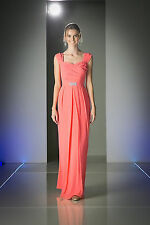 Modest Long Bridesmaids Dress Plus Size Formal Prom Thick Strap