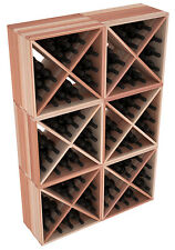 24-144 Bottle Wine Rack Cubes in Premium Redwood. Handmade in the US. Free Ship!