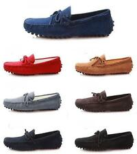 fashion mens suede Casual slip on Loafers moccasin-gommino driving shoes #