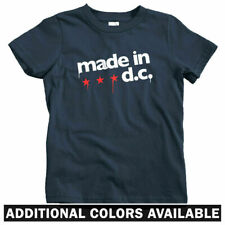 Made In DC Kids T-shirt - Baby Toddler Youth Tee - Washington USA Gift Flag Star