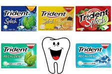 TRIDENT Sugar Free Chewing Gum Teeth Candy Fresh Splash Recaldent Mint Fruit
