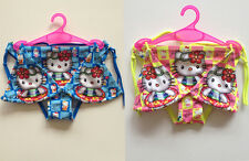 Girls Kids Swimwear Kitty Swimsuit Bikini Sets Tankini 2-8Y Beachwear Swimming
