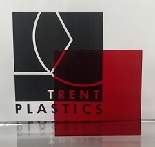 Red Tinted Perspex Acrylic Plastic Sheet Cut to Size Tint Cast Coloured Transpar