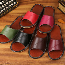 Spring Summer Genuine Leather Slippers Indoor Shoes Sandal Solid Color PT0016