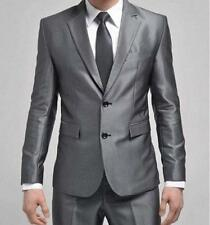 hot sale Mens Slim Formal suit brazer Two-Button Suit Set Jacket Casual Pants #