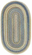 Capel Rugs Kill Devil Hill Wool Country Braided Area Rug Light Blue #410