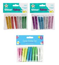 8 X GLITTER TUBES CREATIVE CRAFT KIDS CARD MAKING SCRAPBOOKS SPARKLE DECOUPAGE