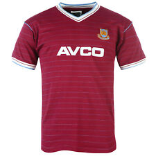 West Ham United FC Official Football Gift Mens 1986 Retro Home Kit Shirt