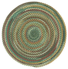 Capel Rugs Sherwood Forest Wool Country Braided Area Round Rug Hunter Green #275