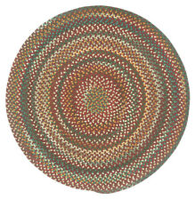 Capel Rugs Sherwood Forest Wool Country Braided Area Round Rug Heritage Red #550