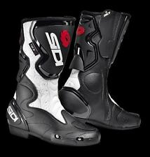 Track Motorcycle Boots Sidi Fusion Lei Black White Protections Lady Sport