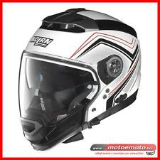 Convertible Scooter Motorcycle Helmet Nolan N44 Evo Como 34 White Red Black
