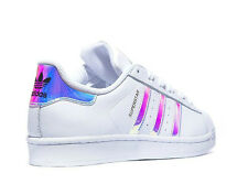 Adidas Superstar (GS)White Metal Silver Juniors Women's Girls Boys Trainers