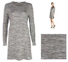 River Island Grey Marl Fit & Flare Skater Swing Summer Dress Size 6 8 10 12 14