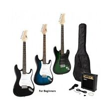 Electric Guitar With Gig Bag Case Strap 10 Watt Amp Kit Amplifier Full Size New