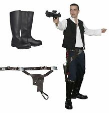 Star Wars Han Solo Costume Bundle Belt, Boots New Hope Film Set Quality from USA