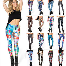 Funky Womens Sexy Skinny Elastic Leggings 3D Graphic Printed Stretch Tight Pants