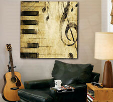 Music Notes Piano Keys Treble Clef Canvas Art Poster Print Home Wall Decor