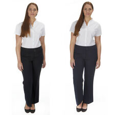 Ladies Womens Black Work Pants Trousers Office Smart Navy UK Sizes 8-14 New