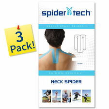 SpiderTech NECK Precut Kinesiology Tape Support: 3-PACK, 5 Color Options