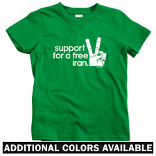 Iran Solidarity Kids T-shirt - Baby Toddler Youth Tee - Revolution Peace Sign