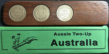 1936 Jarrah Two-Up Game set w/original Australian pennies. Other years available