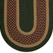 Sage Green Camel Colonial Home Durable Polypropylene Braided Rug 127EX