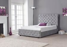 NEW HANNAH CHIC ITALIAN LUXURY FABRIC SILVER BED Modern Bedroom Furniture