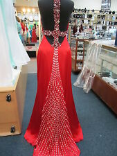 6774 RED ALYCE PARIS CHARMEUSE GOWN FORMAL PROM PAGEANT DRESS Sz 4 $400 NWT