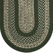 Sage Green Cream Colonial Home Durable Polypropylene Braided Rug 127 Classic