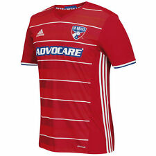 adidas FC Dallas MLS 2016 Soccer Home Jersey New Red / Royal / White