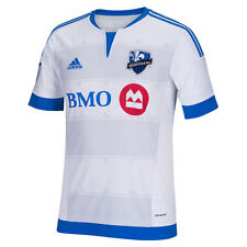 adidas Montreal Impact MLS 2015 / 2016 Soccer Home Jersey New White / Royal Blue
