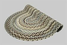New Englands Beacon Hill Wool Country Oval Braided Rug Tan Grey Cranberry #8