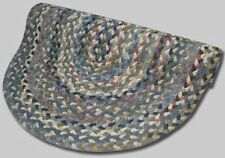 New Englands Beacon Hill Wool Country Oval Braided Rug Blue Grey Rust #33