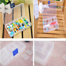 Plastic 15/10 Slots Adjustable Jewelry Storage Box Case Craft Organizer Case Hot