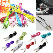 3.5mm AUX Male to Male Stereo Audio Flat Car Cable Cord MobilePhones PC iPod MP4