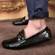 all-match mens casual slip on loafer patent leather Moccasins Driving shoes new