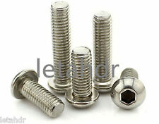 50pcs M3 304 Stainless Steel Allen Button Dome Head Hex Socket Cap Screw Nut