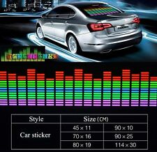 6 Size Car Sticker Music Rhythm LED Flash Light Lamp Sound Activated Equalizer