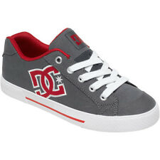DC Shoes Women's Chelsea 2 Lace Up Skate Shoe GREY/DARK RED