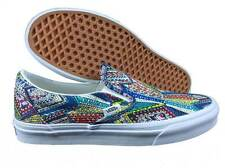 VANS. Classic Slip On. Liberty Bell Pattern. Blue / White. Mens US Size 9.5.