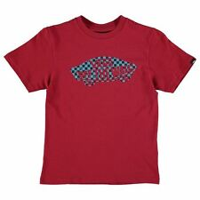 Kids Vans Off The Wall Check T Shirt Junior Boys New