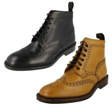 Mens Loake Tan Brogue Ankle Boots Style - Burford 2