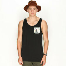 New Rusty Trap Singlet in Black | sale Mens Sale Mens Sale Singlets
