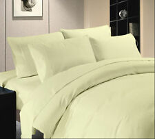1000TC DUVET SET COLLECTION IVORY SOLID & STRIPE 100% EGYPTIAN COTTON USA SIZE**