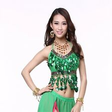 Belly Dance Diamond Chiffon Tops Dancing Tribal Sling Bra Costume